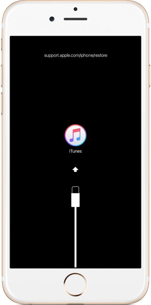 iPhone、iPad、iPod touch に「iTunes に接続」画面が表示される場合