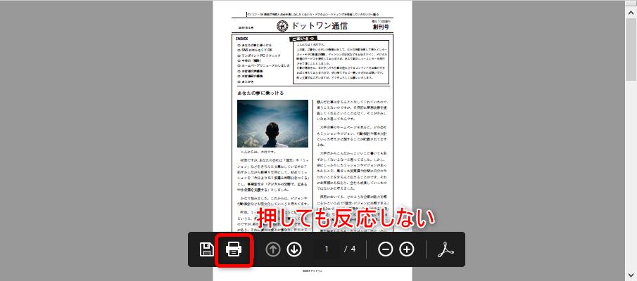 Internet Explorer(IE)でPDFの印刷ボタンが反応しない